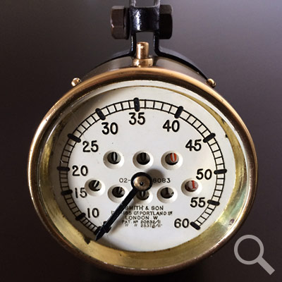 Early S. Smith & Son speedometer c. 1914